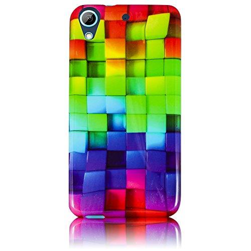 HTC Desire 626 626G Silikon Schutz-Hülle Buntes Muster weiche Tasche Cover Case Bumper Etui Flip smartphone handy backcover thematys®