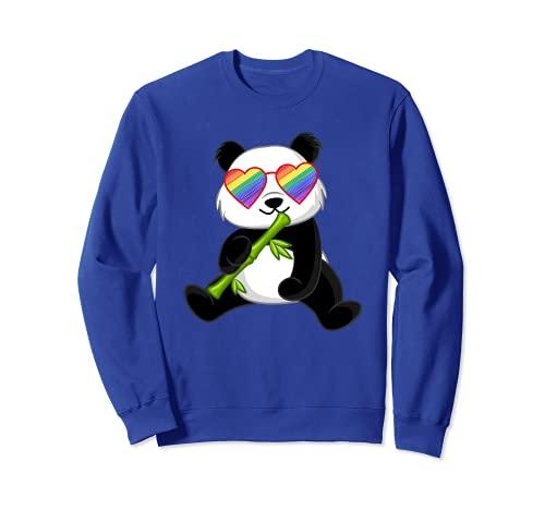 Gay Panda Lover Gay Pride Stuff For Teen Girls LGBTQ Rainbow Sweatshirt
