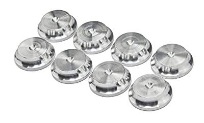 PrecisionGeek - Aluminium Speaker spike pads 20mm DIA 5 Radius - Set of 8 pieces by MAAD Precision Engineering