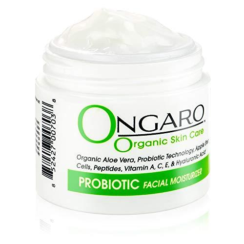 Bio-Gesichtsfeuchtigkeitscreme - Natürliche Gesichtslotion mit probiotischer Technologie, hilft bei, Anti-Falten und ungleichmäßiger Hautfarbe - Apfel-Stammzellen, Peptide, Vitamin C, A, E 2oz