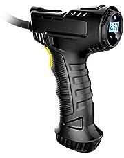 Bandenpomp Luchtcompressor met LCD-scherm Digitale manometer, draagbare handheld auto-luchtcompressor inclusief LED-verlichting en opladen van sigarettenaansteker