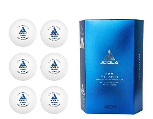 Affordable JOOLA Flash Seamless Poly 3-Star Quality Table Tennis Balls, 6 Count
