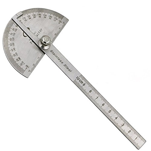 Actopus Metal Protractor Angle Finder Rotary Ruler Gauge Machinist Tool