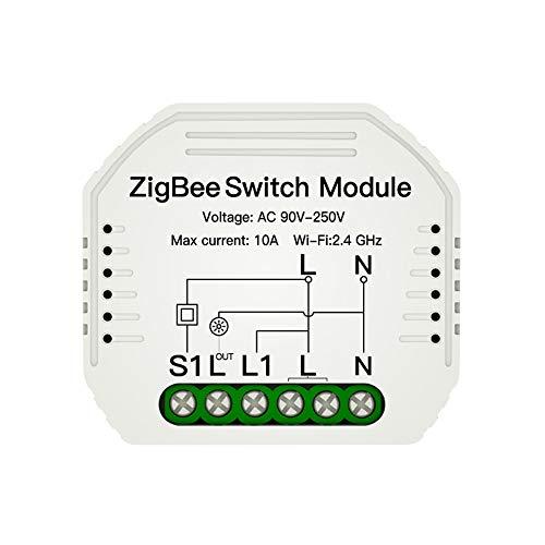 Fesjoy Módulo de Interruptor Inteligente Interruptor de luz Control Remoto inalámbrico Control de Voz Hogar Inteligente Modificación del hogar Herramienta multipropósito Controlador de Interruptor