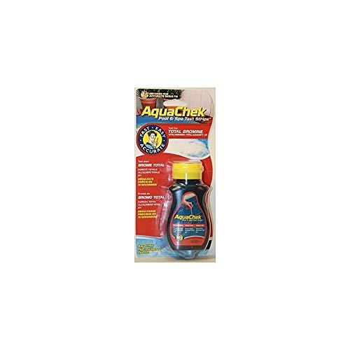 Aquachek 4in1 Wasser-Teststreifen, Brom, pH-Wert, Alkalinität, Härte, Rot/Blau