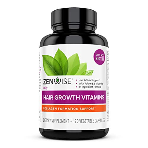 Zenwise Hair Growth Vitamins - Hair Loss Treatment with Biotin, Saw Palmetto DHT Blocker, and...