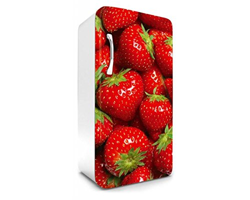 DIMEX LINE koelkast sticker AARDBEIEN 65 x 120 cm | Stickers - Fotobehang - Decorfolie - Decoratieve stickers | Premium vinyl kwaliteit