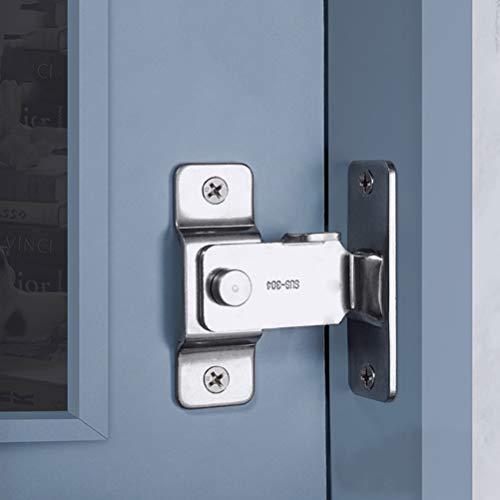 DINGCHI Cerrojo de seguridad giratorio para puertas corredizas, Pestillo de puerta abatible,...