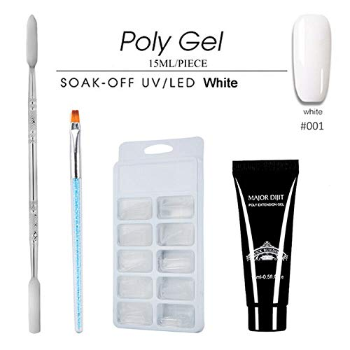 Rovive Nagel Poly Gel Kit Nagel Verlenging Quick Dry Polygel Builder Manicure Penseel 15 ml Lijm Soak Off Poly Gel Art Tool Manicure