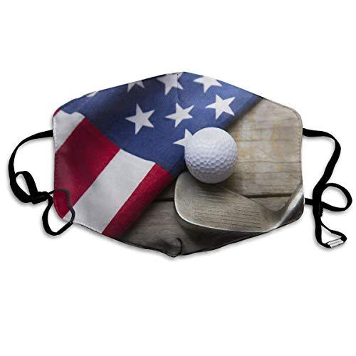Gezichtsmaskers America vlag en golfbal mondmasker luchtvervuiling beschermen veiligheidsmaskers herbruikbaar muffelmasker neusafdekking
