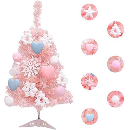 MMH Pink Christmas Tree - Tabletop Christmas Tree Artificial Tree for Christmas Tree Christmas Style 23.6 inch-3ft