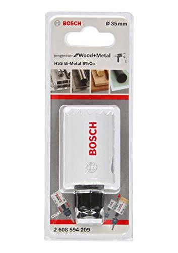 Bosch Professional Lochsäge Progressor for Wood & Metal (Holz und Metall, Ø 35 mm, Zubehör Bohrmaschine)