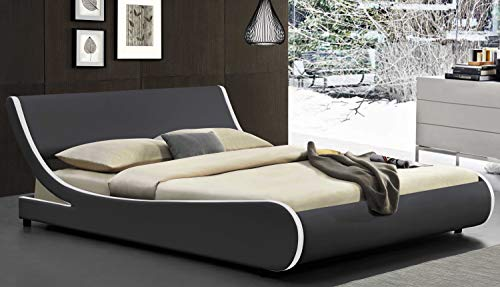 Amolife Modern Queen Platform Bed Frame with Adjustable...