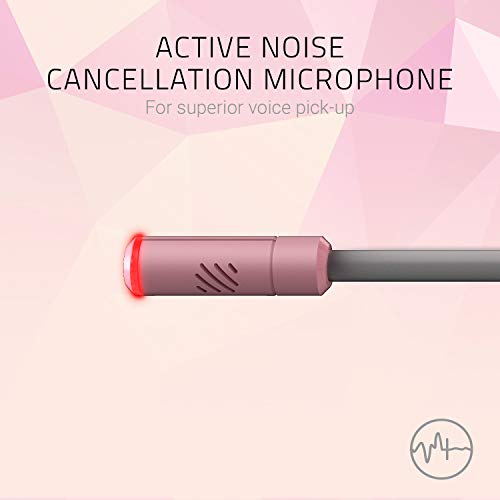 Razer Kraken Kitty - Gaming Headset (Das Katzenohren-Headset mit RGB Chroma-Beleuchtung, Mikrofon mit aktiver Rauschunterdrückung, THX Spatial Audio, Bedienelemente an der Ohrmuschel) Pink / Quartz