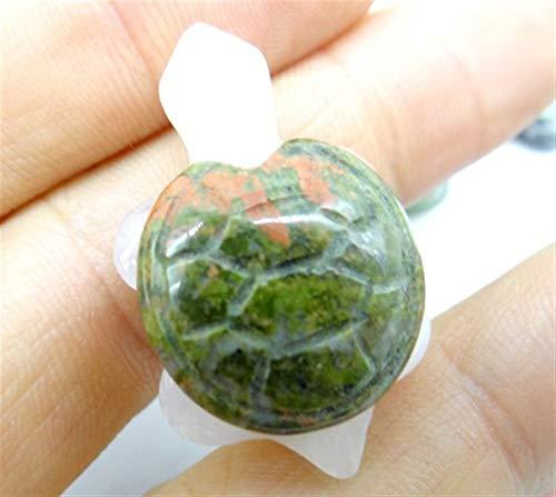 ERTERT Piedra Natural Cuarzo Cristal Turquesa Tigre Ojo Aventurine Tortuga Colgante para la joyería de Bricolaje Que Hace Collar Accesorios1PCS (Metal Color : NO.4)