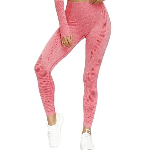 QTJY Leggings Deportivos sin Costuras para Correr para Mujer, Pantalones de Yoga, Cintura Alta, Ejercicio Push-up, Estiramiento, Gimnasio, Celulitis, Leggings C L