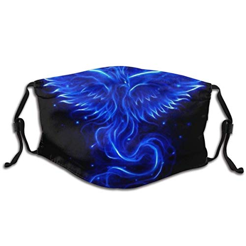 Cool Blue Phoenix Black Summer Old Children Go to School Reusable Windproof Mouth Anti Dust Protection Mouth Cover for Outdoor