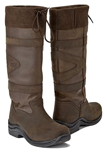Toggi Canyon Long Country Boots, Waterproof, Chocolate Brown, (EU 38 Wide, Chocolate Brown)