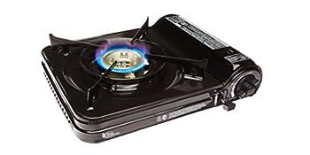 Sterno 50106 Portable Butane Stove with Piezo Electronic Ignition and Adjustable Flame 9000 BTU Black