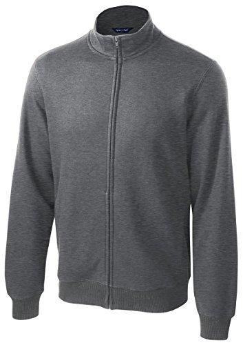 Sport-Tek Men's Full Zip Sweatshirt,Medium,Vintage Hthr