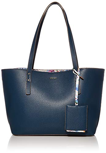 Anne Klein womens Anne Klein Carry All Tote, Blue, 12 L x 11 H 5 D US