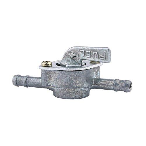 Greatangle-UK Válvula de Gasolina de la Llave de Purga del Grifo del Interruptor del Tanque de Gasolina del Combustible con el Interruptor de Encendido/Apagado de Dos Extremos