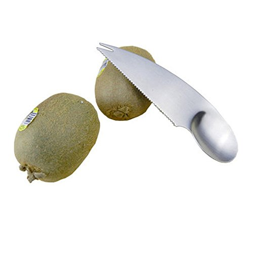 COMIART Stainless Steel Kiwi Easy Peeler Cutter Knife Fruit Pulp Spoon Kitchen