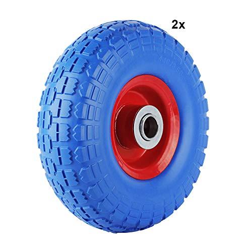 2 pcs rueda giratoria con rodamiento de bolas ruedas de metal-llanta 260 mm x 85 mm