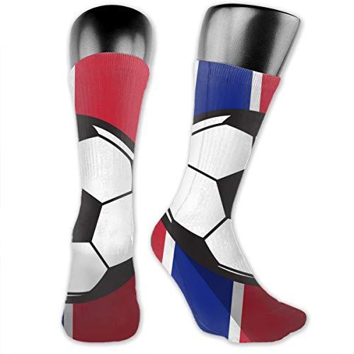 Kkyoxdiy Knee High Socks for Men Women Football Icon with Norway Flag Sports Soccer Socks 40cm