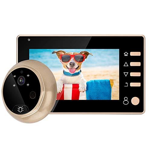 Tosuny Spioncino Digitale per Porta, 4,3 Pollici 1MP HD Campanello Video Telecamera Peephole Viewer Digitale Citofono Visivo Intelligente con Funzione di Visione Notturna, Varie Suonerie Musicali
