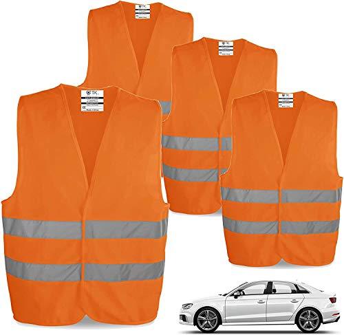 TK Gruppe Timo Klingler 12x Warnwesten EN471 Pannenweste 2020 Unfallweste Pkw Sicherheitsweste Weste orange reflektierend Auto, Pkw, LKW (12x)