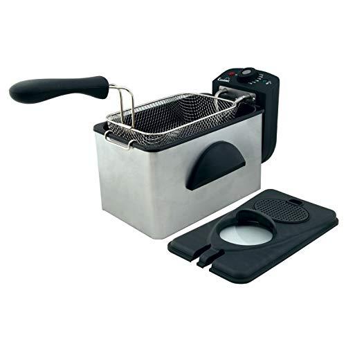 Comelec FR 3082 Freidora eléctrica, 2000 W, BlancoNegro