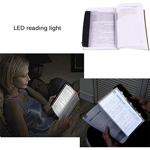 Liamostee La luz de la luz de Lectura del Libro del LED Enciende los Ojos de la Placa Plana Protege la lámpara de Escritorio del Panel del Viaje del Coche