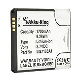 Akku-King Akku kompatibel mit Medion LI37163A1 - Li-Ion 1700mAh - für Life E4502, P4013, MD 98332, MD 9890