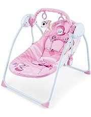 كول بيبي، مع جهاز تحكم عن بعد كرسي هزاز كهربائي للأطفال الرضع سرير هزاز مريح كرسي هزاز للأطفال كرسي تأرجح للأطفال 0
