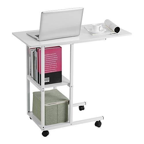 Dsrgwe Beistelltisch Tragbare Mobile über Bett Tisch Sofa Couch Rolling Wheel Laptop Computer Schreibtisch Für Home Office