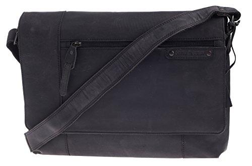 Greenburry Vintage Revival Messenger Serviette cuir 37 cm compartiment Laptop