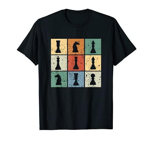 Camiseta vintage retro del club de ajedrez para los amantes Camiseta
