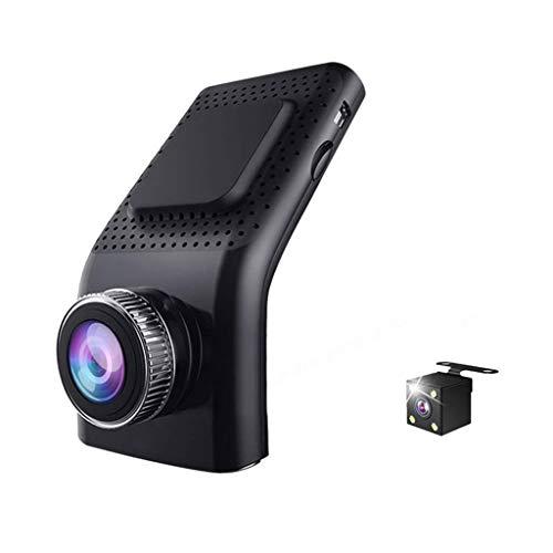Grato per tutto Mini Visione Notturna HD di Guida a Doppia Lente della Macchina Fotografica Auto Display da 2,4 Pollici Ampio Angolo di monitoraggio parcheggio registratore 140 Gradi (Color : A)