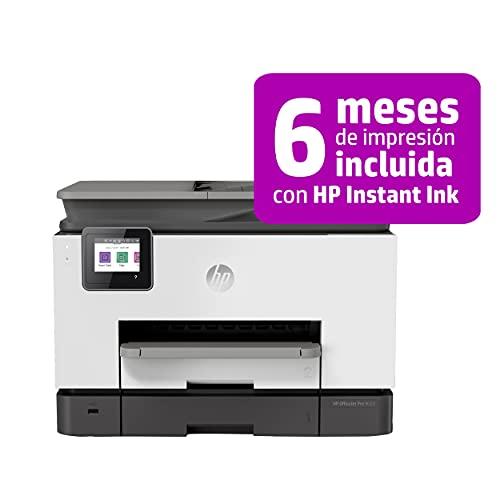 HP OfficeJet Pro 9020 1MR78B, Impresora Multifunción Tinta, Imprime, Escanea, Copia y Fax, Wi-Fi, Ethernet, USB 2.0, HP Smart App, Compatible con el Servicio Instant Ink, Gris