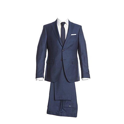 Barutti Anzug Royalblau feinste Struktur Tailored Fit taillierter Schnitt 100% Pure Wool Schurwolle Super 120S Sakko Tarso AMF Hose Tosco 98