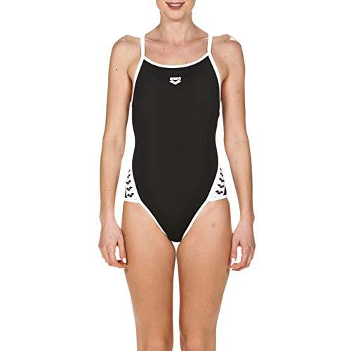 Arena W Team Stripe Super Fly Back, Costume Sportivo Donna, Nero (Black/White), 50 IT