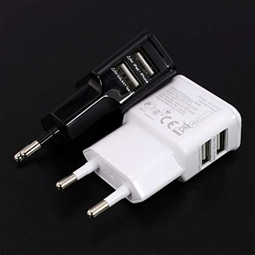 Ba30DEllylelly 1A Adaptador de Corriente USB Dual portátil Cargador de teléfono móvil...