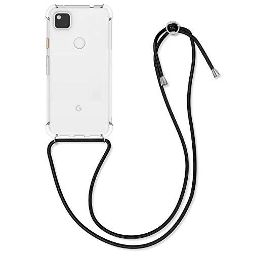 kwmobile Necklace Hülle kompatibel mit Google Pixel 4a - Hülle Silikon mit Handykette - Band Handyhülle Transparent