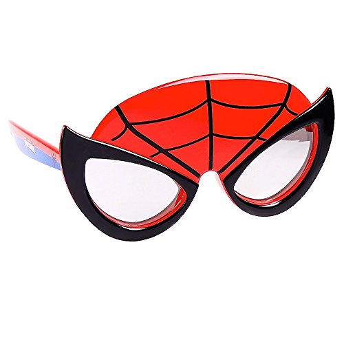 Sun-Staches Costume Sunglasses Marvel Lil Characters Spiderman Party Favors UV400