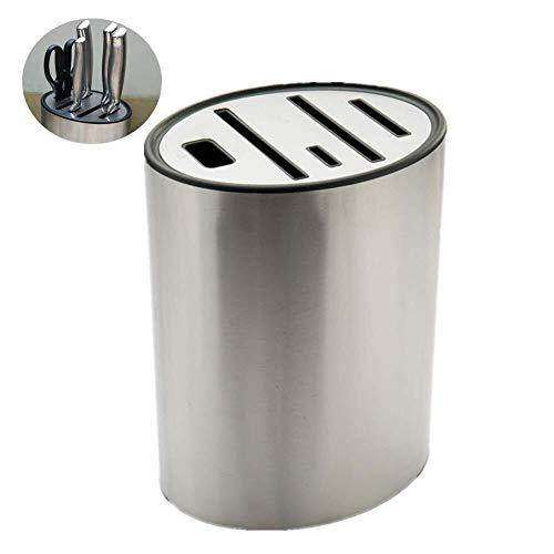 CS-DJ messenblok roestvrij staal, voor veilig, schoon en netjes opslag van mes, messenopslag en organisator, beste keuze voor kookliefhebbers (zonder mes) houderblok