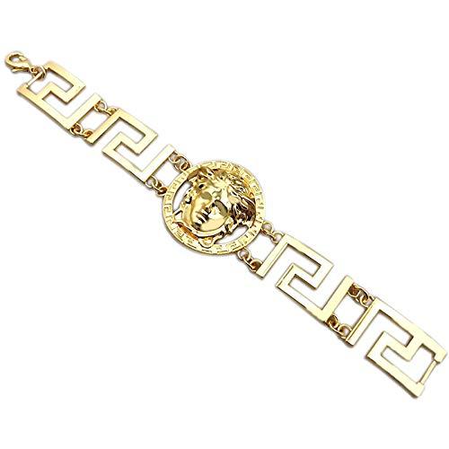 Medusa Bracciale – Gioielli da uomo placcato oro Ice Chain Bracelet Luxus