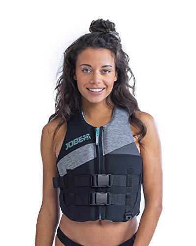 Jobe Traje de Neopreno de Neopreno para Mujer 50N Deportes acuáticos Waterski Jetski Wakeboarding Safety Impact Vest - Top - Cool Grey