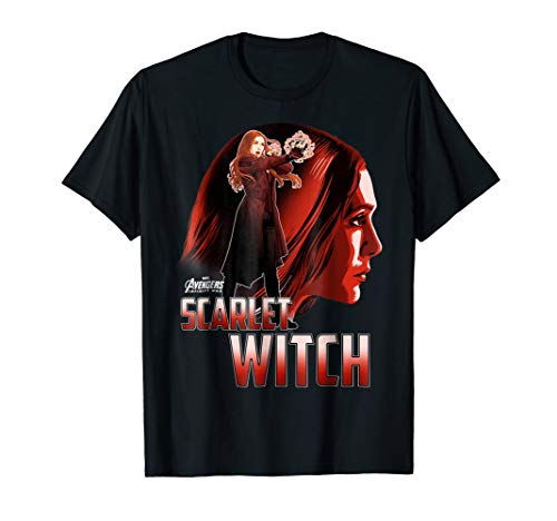 Marvel Infinity War Scarlet Witch Profile Graphic T-Shirt