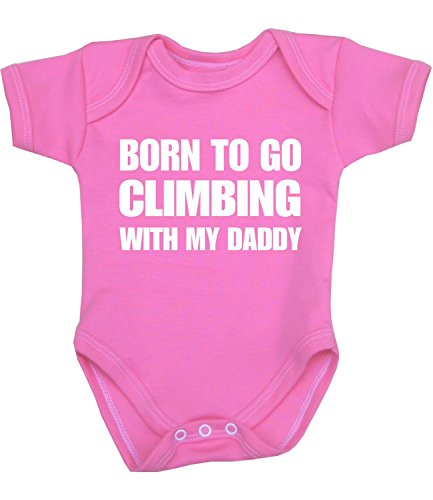 BabyPrem Baby Born to go Climbing with Daddy Clothes Bodysuit PINK 3-6
